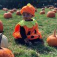 True, la fille de Khloé Kardashian et Tristan Thompson, déguisée en citrouille à l'approche d'Halloween. Photo publiée par Khloé Kardashian sur Instagram le 14 octobre 2018.