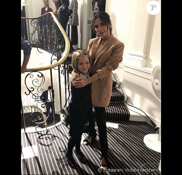 Victoria Beckham et sa fille Harper à Londres. Septembre 2018.