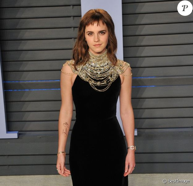 """Emma Watson - Les célébrités arrivent à la soirée """"Vanity Fair Oscar Party"""" organisée par Radhika Jones à Beverly Hills le 4 octobre 2018."""