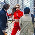 Exclusif - Gigi Hadid en pleine séance photo à New York, le 17 octobre 2018.