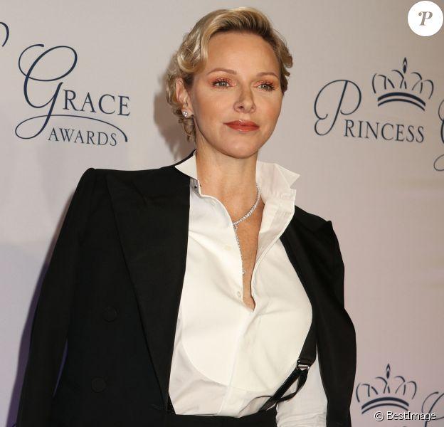 """La princesse Charlene de Monaco - Soirée """"Princess Grace Awards Gala 2018"""" au restaurant Cipriani à New York le 16 octobre 2018."""
