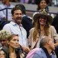 Gerard Butler et sa compagne Morgan Brown - Les Célébrités assitent à la finale de tennis de L'Us Open, N.Djokovic contre J-M Del Potro à New York le 9 septembre 2018.