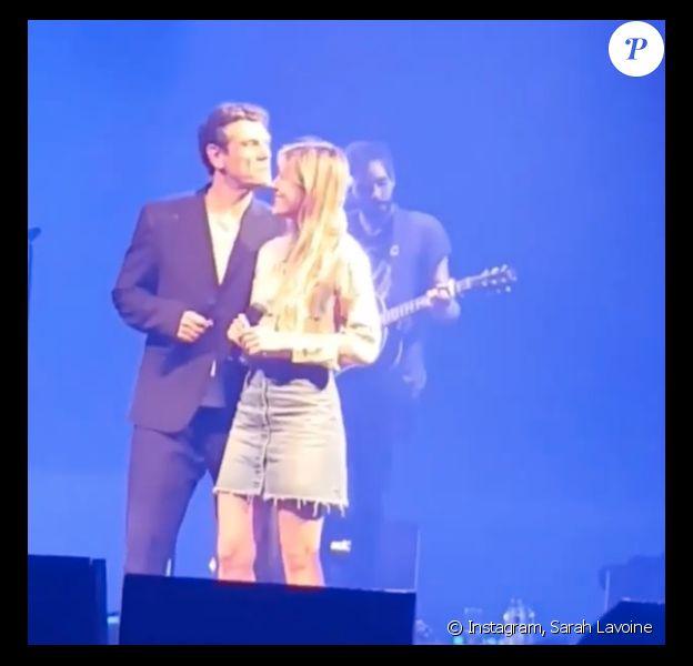 Marc Lavoine et sa fille Yasmine en concert à Boulogne le 18 octobre 2018