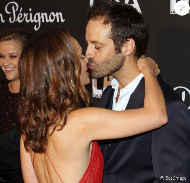 """Natalie Portman et son mari Benjamin Millepied - Les célébrités posent lors du photcall de la soirée """"L.A. Dance Project"""" à Los Angeles le 20 octobre 2018."""