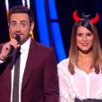 Camille Combal et Karine Ferri lors du 5e prime de DALS 9 le 27 octobre 2018
