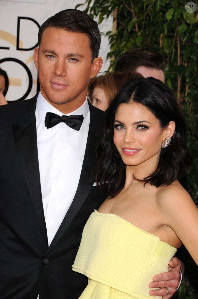 Channing Tatum et Jenna Dewan - 72ème cérémonie annuelle des Golden Globe Awards à Beverly Hills. Le 11 janvier 2015