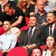 David Beckham et son fils Romeo assistent à la cérémonie de clôture des Invictus Games 2018 à Sydney, le 27 octobre 2018.