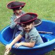 Nelson et Eddy, les jumeaux de Céline Dion sur instagram. Le 28 octobre 2015