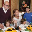 Céline Dion fête les 3 ans de ses jumeaux Nelson et Eddy, en 2013. Photo postée sur Facebook le 27 février 2015