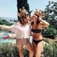 Camille Gottlieb, fille de la princesse Stéphanie de Monaco, avec son amie Caroline sur Instagram le 15 juillet 2018.
