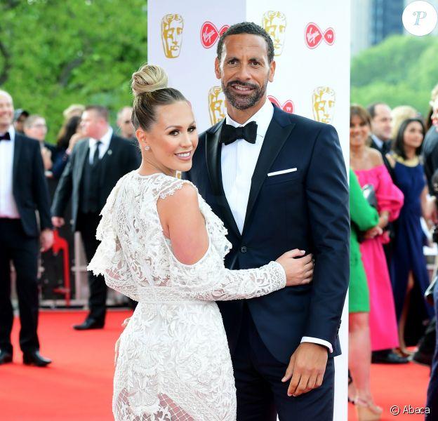 Rio Ferdinand et Kate Wright aux Virgin TV British Academy Television Awards 2018 à Londres. Le 13 mai 2018.