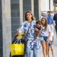 Exclusif - Jessica Alba fait du shopping avec ses 3 enfants Honor, Haven et Hayes Alba Warren à Beverly Hills. Le 10 août 2018