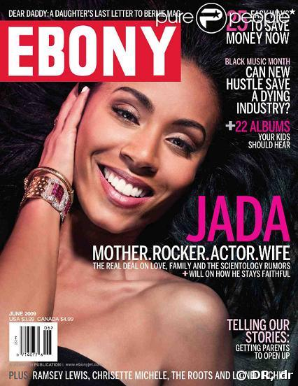 Jada Pinkett Smith en couverture du magazine Ebony !