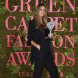 Elle MacPherson - Green Carpet Fashion Awards à Milan le 23 septembre 2018.