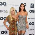 "Irina Shayk, Donatella Versace au photocall de la soirée des ""GQ Men Awards 2018"" à Berlin, le 8 novembre 2018."