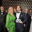 "Barbara Schoneberger, Henry Cavill à la soirée des ""GQ Men Awards 2018"" à Berlin, le 8 novembre 2018."