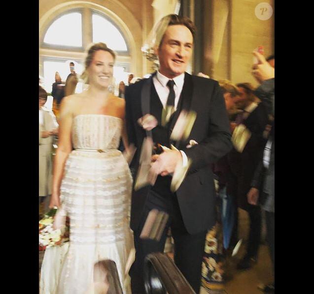Mariage de Benoît Magimel et Margot, à Paris, le 10 novembre 2018