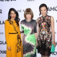 Huma Abedin, Anna Wintour et Wendi Deng Murdoch - Soirée des 2018 Glamour Women Of the Year Awards: Women Rise aux studios Spring à New York City, le 12 novembre 2018.