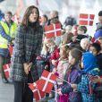 La princesse Mary de Danemark lors du vernissage de l'exposition Childmothers à Aarhus le 12 novembre 2018