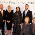 La princesse Marie de Danemark le 13 novembre 2018 lors d'un dîner anti-gaspillage alimentaire à l'ambassade des Pays-Bas au Danemark, à Copenhague.