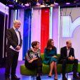 La duchesse Catherine de Cambridge et le prince William ont pris place sur le canapé de The One Show lors de leur visite au siège de la BBC à Londres le 15 novembre 2018 dans le cadre de la Semaine anti-harcèlement en Grande-Bretagne.
