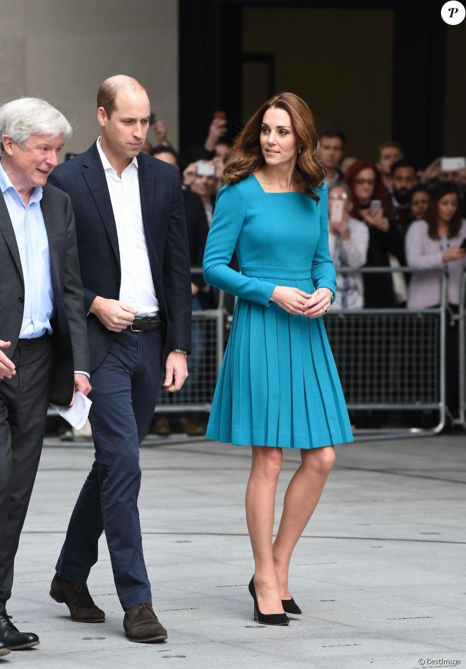 La duchesse Catherine de Cambridge et le prince William étaient en visite au siège de la BBC à Londres le 15 novembre 2018 dans le cadre de la Semaine anti-harcèlement en Grande-Bretagne.