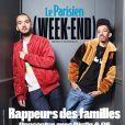 Bigflo & Oli en couverture de   Le Parisien (Week-End)  du 16 novembre 2018.