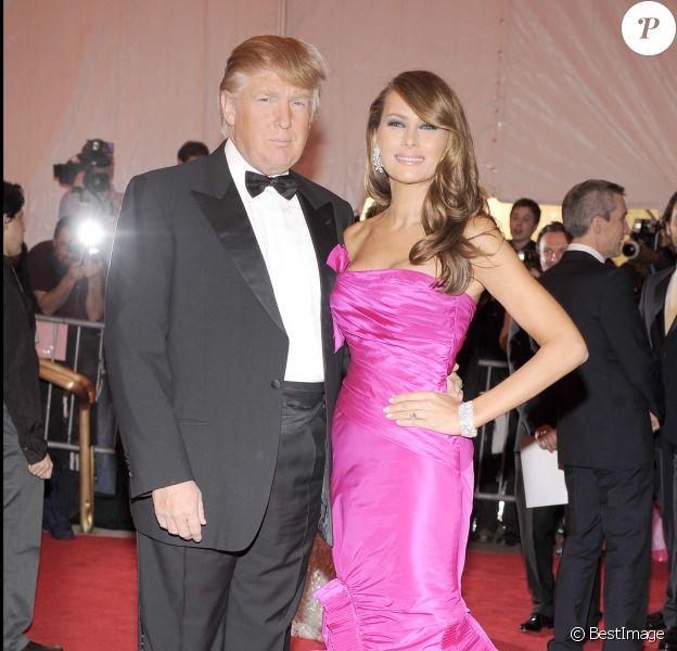 Donald et Melania Trump au Met Gala 2008.