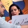 """Un candidat des """"Z'amours"""" à côté de la plaque face à Bruno Guillon, le 22 novembre 2018 sur France 2. Ici sa compagne Karine exaspérée."""