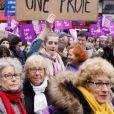 Illustration lors de la manifestation organisée contre les violences faites aux femmes dans le quartier de l'Opéra à Paris, le 24 novembre 2018. © CVS/Bestimage