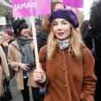 Alix Bénézech lors de la manifestation organisée contre les violences faites aux femmes dans le quartier de l'Opéra à Paris, le 24 novembre 2018. © CVS/Bestimage