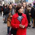 Laurence Rossignol lors de la manifestation organisée contre les violences faites aux femmes dans le quartier de l'Opéra à Paris, le 24 novembre 2018. © CVS/Bestimage