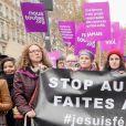 Sophie Darel, Anna Mouglalis, Muriel Robin, Eva Darlan, Orlan lors de la manifestation organisée contre les violences faites aux femmes dans le quartier de l'Opéra à Paris, le 24 novembre 2018. © CVS/Bestimage