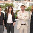 Charlotte Gainsbourg et Willem Dafoe présentent  Antichrist  avec le ralisateur Lars von Trier (à droite, Meta Louise Foldager, productrice du film)