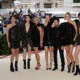 Mica Arganaraz, Anja Rubik, Anthony Vaccarello, Amber Valletta, Kate Moss, Charlotte Casiraghi et Charlotte Gainsbourg au Met Gala 2018. New York, le 7 mai 2018.