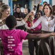 La princesse Mary de Danemark a rencontré Elizabeth Okumu (Women Deliver), qui lui a présenté son programme d'enseignement pour les jeunes mères et leurs enfants, sur la santé sexuelle et les droits en matière de procréation, lors de son voyage officiel au Kenya le 28 novembre 2018