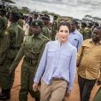 La princesse Mary de Danemark en visite dans la réserve naturelle de Kalama lors de son voyage au Kenya le 27 novembre 2018.