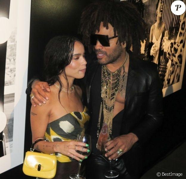 Excusif - Lenny Kravitz et sa fille Zoe Kravitz - Lenny Kravitz expose ses photos au Skylight Modern space à New York, le 28 septembre 2018