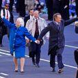 George H.W. Bush et Barbara Bush lors de la parade de l'investiture le 20 janvier 1989. L'ancien président des Etats-Unis est mort à l'âge de 94 ans le 30 novembre 2018.