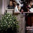 Jenna Bush Hager, le fille de George W Bush- Obsèques de George H.W. Bush à la National Cathedral, Washington, le 5 décembre 2018.