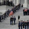Obsèques de George H.W. Bush à la National Cathedral, Washington, le 5 décembre 2018.