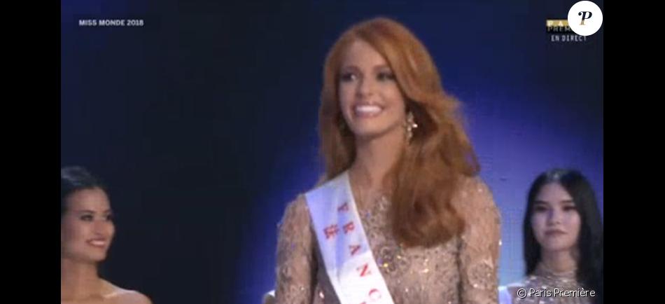 Maëva Coucke à Miss Monde 2018, 8 décembre 2018, Paris Première