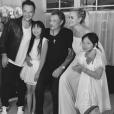 Johnny, David, Laeticia, Jade et Joy Hallyday en juin 2017.