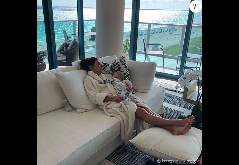Eva Longoria et Santiago, à Miamin le 8 décembre 2018