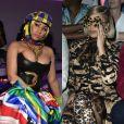 Nicki Minaj et Cardi B aux défilés Versace et Dolce&Gabbana. Milan, les 21 et 23 septembre 2018.