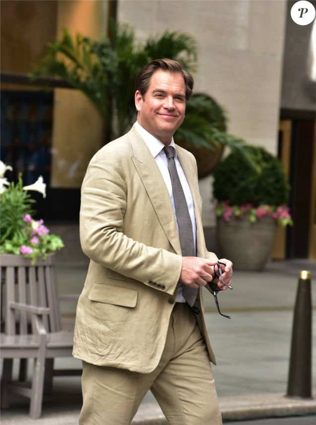 "Michael Weatherly sur le tournage de la série télé "" Bull "" in New York Le 29 avril 2017"