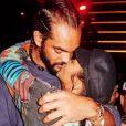Joakim Noah et Lais Ribeiro s'embrassent à Las Vegas. Instagram, le 10 octobre 2018.