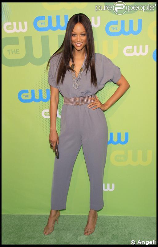 Tyra Banks à la soirée CW Network au Madison Square Garden le 21 mai 2009