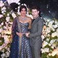Nick Jonas et Priyanka Chopra assistent à leur deuxième réception de mariage à Bombay, le 19 décembre 2018.