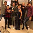 Zinédine Zidane a fêté le passage à 2018 avec sa femme Véronique, leurs quatre fils Enzo, Luca, Théo et Elyza, dans leur maison de Madrid. Instagram, décembre 2017.